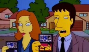 Mulder Scully Simpsons